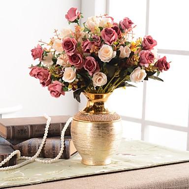 زهور اصطناعية 0 فرع كلاسيكي التقليدية / الكلاسيكية أوروبي المزهرية أزهار الطاولة / واحدة زهرية