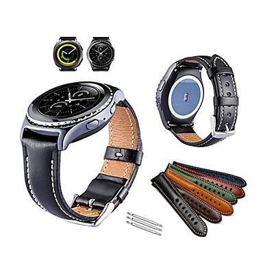 حزام إلى Gear Sport / Gear S2 Classic Samsung Galaxy عصابة الرياضة جلد طبيعي شريط المعصم