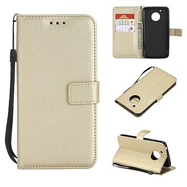 Недорогие Чехлы и кейсы для Motorola-Кейс для Назначение Motorola Moto G5s Plus / Moto G5s / Мото G5 Plus Кошелек / Бумажник для карт / Флип Чехол Однотонный Твердый Кожа PU