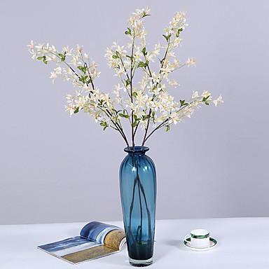 زهور اصطناعية 1 فرع كلاسيكي فردي أسلوب بسيط الحديث ورادت ناعمة الزهور الخالدة أزهار الطاولة