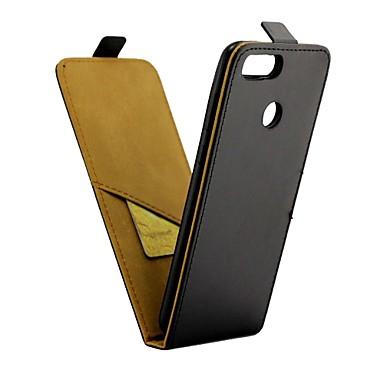 غطاء من أجل Huawei Honor 7X حامل البطاقات / قلب غطاء كامل للجسم لون سادة قاسي جلد PU