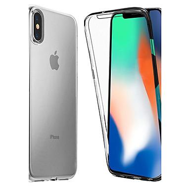 Недорогие Кейсы для iPhone X-Кейс для Назначение Apple iPhone XS / iPhone XR / iPhone XS Max Защита от удара / Прозрачный Чехол Однотонный Мягкий ТПУ