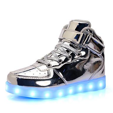 povoljno Beba & Djeca-Dječaci / Djevojčice Svjetleće tenisice Lakirana koža Sneakers Dijete (9m-4ys) / Mala djeca (4-7s) / Velika djeca (7 godina +) Vezanje / LED Srebro / Plava / Pink Proljeće / Guma