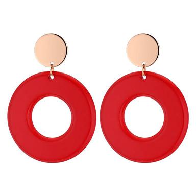نسائي أقراط الزر - سيدات, أنيق, شائع مجوهرات أرجواني / أحمر / أخضر من أجل مناسب للبس اليومي شارع / 1 زوج