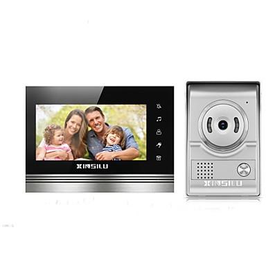 XINSILU XSL-V70K-L+ sliver 7 بوصة حر اليدين 800*480 بكسل واحد إلى واحد Doorphone الفيديو