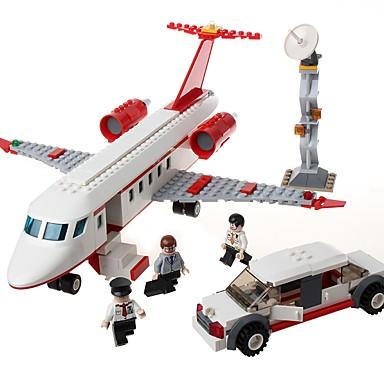 GUDI أحجار البناء مجموعة ألعاب البناء ألعاب تربوية 334 pcs طيارة متوافق Legoing التوتر والقلق الإغاثة التفاعل بين الوالدين والطفل الطائرات للصبيان للفتيات ألعاب هدية