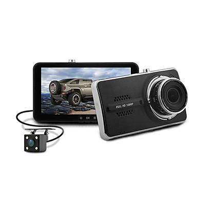 Blackview 1080p عدسة مزدوجة / مع الكاميرا الخلفية سائق سيارة 150 درجة زاوية واسعة كموس الاستشعار 4 بوصة IPS داش كام مع G-Sensor / حالة وقوف السيارات / كشف الحركة 4 أشعة تحت الحمراء LED مسجل السيارة