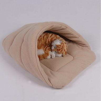 كلاب الأرانب قطط الأسرّة أسرة عناق كهف السرير بطانيات قماش مصغرة الدفء ناعم لون سادة موضة أزرق زهري خمر