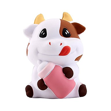 voordelige Anti-stress-Knijpspeeltjes Anti-stress Cow Stress en angst Relief squishy Decompressie Speelgoed poly urethaan 1 pcs Kinderen Allemaal Jongens Meisjes Speeltjes Geschenk