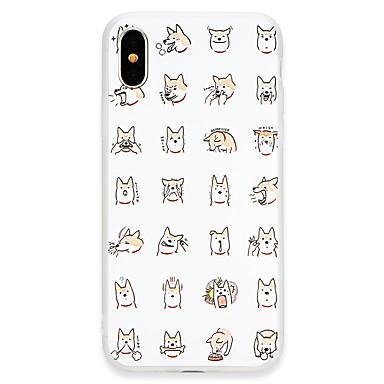 Недорогие Кейсы для iPhone 6-Кейс для Назначение Apple iPhone X / iPhone 8 Pluss / iPhone 8 Ультратонкий Кейс на заднюю панель Плитка / С собакой Мягкий ТПУ