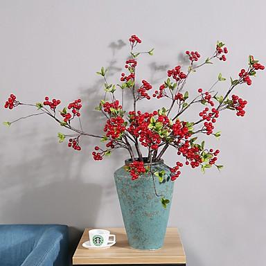 زهور اصطناعية 4.0 فرع كلاسيكي فردي أسلوب بسيط النمط الرعوي بتلات فاكهة الزهور الخالدة أزهار الطاولة