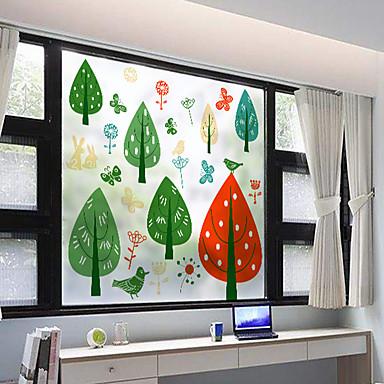 فيلم نافذة وملصقات زخرفة مت / معاصر 3D طباعة PVC ملصق النافذة / بدون لمعة