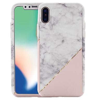 Недорогие Кейсы для iPhone 6-Кейс для Назначение Apple iPhone X / iPhone 8 Pluss / iPhone 8 С узором Чехол Мрамор Твердый ПК