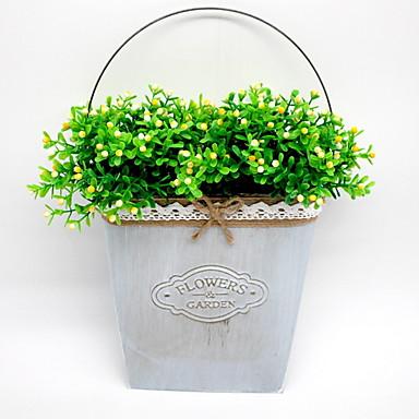 زهور اصطناعية 1 فرع معلقة على الحائط الحديث النباتات العصارية المزهرية أزهار الحائط / واحدة زهرية