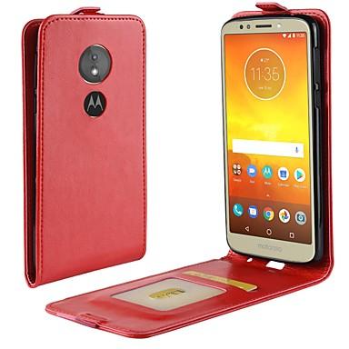 Недорогие Чехлы и кейсы для Motorola-Кейс для Назначение Motorola Moto X4 / MOTO G6 / Moto G6 Play Бумажник для карт / Флип Чехол Однотонный Твердый Кожа PU
