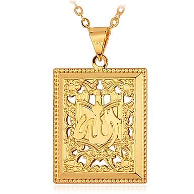 رجالي قلائد الحلي طويل منقوش موضة نحاس ذهبي فضي 55 cm قلادة مجوهرات 1PC من أجل هدية مناسب للبس اليومي
