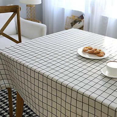 معاصر PVC مربع المفارش شرشفات الطاولة مخطط الجدول ديكورات 1 pcs