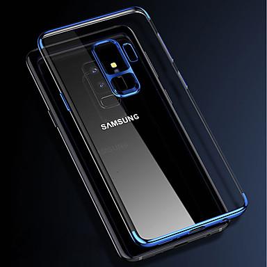 غطاء من أجل Samsung Galaxy S9 / S9 Plus / S8 Plus تصفيح / شفاف غطاء خلفي لون سادة ناعم TPU