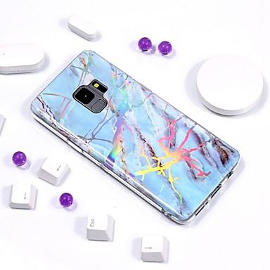 غطاء من أجل Samsung Galaxy S9 / S9 Plus / S8 Plus تصفيح / IMD / نموذج غطاء خلفي حجر كريم ناعم TPU