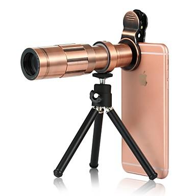 عدسة الهاتف المحمول عدسة زاوية كبيرة سبيكة ألومنيوم 20X ماكرو 3 m 70 ° العدسة مع الحامل