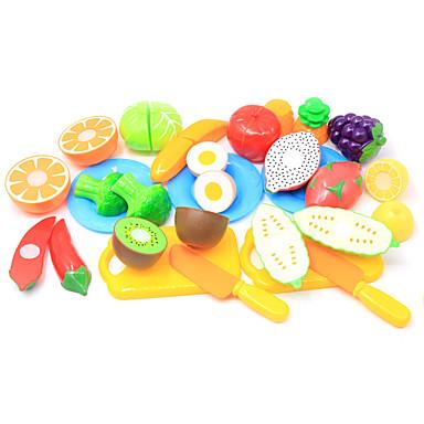 مجموعات لعبة مطبخ لعب تمثيلي لعب المطبخ مأكولات فاكهة التفاعل بين الوالدين والطفل قذيفة البلاستيك للأطفال مرحلة ما قبل المدرسة الجميع للصبيان للفتيات ألعاب هدية 20 pcs