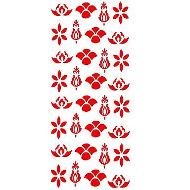 1 pcs ملصقات الوشم الوشم المؤقت سلسلة الزهور الفنون الجسم أيادي / ذراع / معصم
