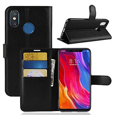 Θήκη Za Xiaomi Xiaomi Mi Mix 2S / Xiaomi Mi 8 / Xiaomi Mi 6X(Mi A2) sa stalkom / Zaokret Korice Jednobojni Tvrdo PU koža
