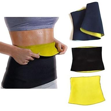 olcso Fitnesz eszközök-Body Shaper Izzasztó öv Szauna öv Neoprén Rugalmas Cipzár nélkül Fogyókúra Fogyás Tummy Fat Burner Jóga Fitnessz Edzőterem edzés mert Derék Has
