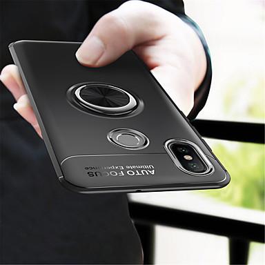 غطاء من أجل Xiaomi Xiaomi Mi Mix 2 / Xiaomi Mi Mix 2S / Xiaomi Mi 8 حامل الخاتم غطاء خلفي لون سادة ناعم TPU / Xiaomi Mi 6