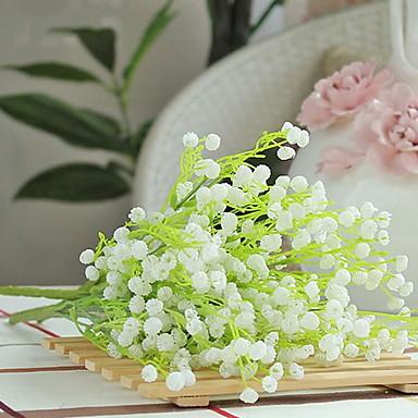 زهور اصطناعية 1 فرع كلاسيكي زهري ورادت ناعمة أزهار الطاولة