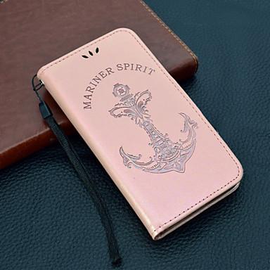 Недорогие Чехлы и кейсы для Sony-Кейс для Назначение Sony Xperia XZ2 / Sony Xperia XZ1 / Xperia XA2 Кошелек / Бумажник для карт / Флип Чехол Слова / выражения Твердый Кожа PU
