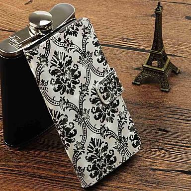 غطاء من أجل Samsung Galaxy S9 / S9 Plus / S8 Plus محفظة / حامل البطاقات / مع حامل غطاء كامل للجسم الطباعة الدانتيل قاسي جلد PU