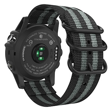 Недорогие Аксессуары для смарт-часов-Ремешок для часов для Fenix 5x / Fenix 3 HR / Fenix 3 Garmin Спортивный ремешок Нейлон Повязка на запястье