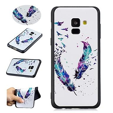 غطاء من أجل Samsung Galaxy A5(2018) / A8 2018 / A5(2016) نموذج غطاء خلفي الريش ناعم TPU