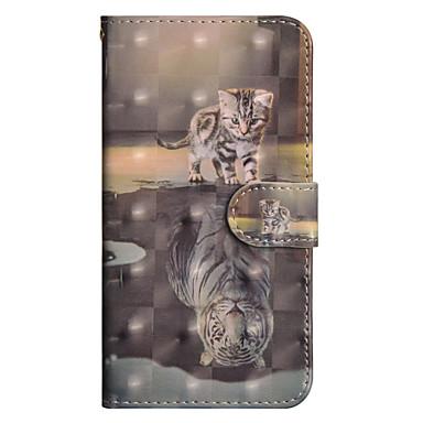 رخيصةأون حافظات / جرابات هواتف جالكسي J-غطاء من أجل Samsung Galaxy J7 (2017) / J6 / J5 (2017) محفظة / حامل البطاقات / مع حامل غطاء كامل للجسم قطة قاسي جلد PU
