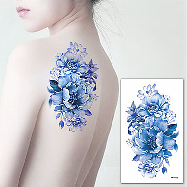 3 pcs ملصقات الوشم الوشم المؤقت سلسلة الزهور الفنون الجسم ذراع / كتف
