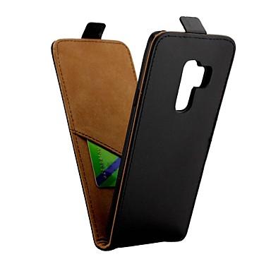 غطاء من أجل Samsung Galaxy S9 Plus حامل البطاقات / قلب غطاء كامل للجسم لون سادة قاسي جلد PU