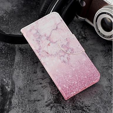غطاء من أجل Apple iPhone X / iPhone 8 Plus / iPhone 8 محفظة / حامل البطاقات / مع حامل غطاء كامل للجسم حجر كريم قاسي جلد PU
