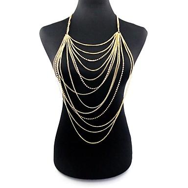 نسائي مجوهرات الجسم 84+12 cm سلسلة الجسم / سلسلة البطن ذهبي ماسك الأحلام سيدات / المتضخم سبيكة مجوهرات من أجل بيكيني الصيف
