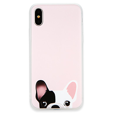 غطاء من أجل Apple iPhone X / iPhone 8 Plus / iPhone 8 نحيف جداً غطاء خلفي كلب ناعم TPU