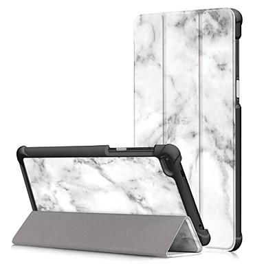 Недорогие Чехлы и кейсы для Lenovo-Кейс для Назначение Lenovo Lenovo Tab 7 Essential / Lenovo Tab 7 со стендом / Флип Чехол Масляный рисунок Твердый Кожа PU