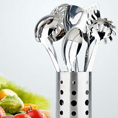 الفولاذ المقاوم للصدأ غرفة الطعام والمطبخ أدوات أدوات أدوات المطبخ 7PCS