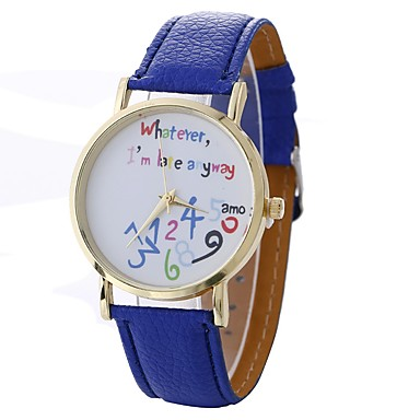 Xu™ نسائي ساعة فستان ساعة المعصم كوارتز أسود / الأبيض / أزرق إبداعي ساعة كاجوال طرد كبير مماثل سيدات موضة ساعة عالمية - أحمر أخضر أزرق سنة واحدة عمر البطارية