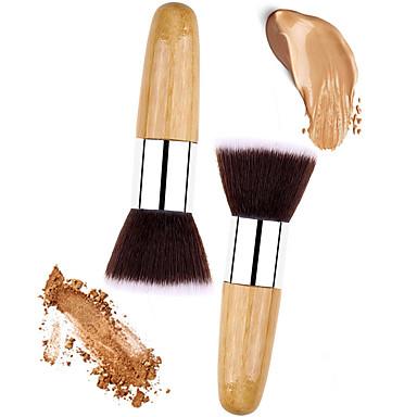 محترف فرش المكياج فرشاة البودرة 2pcs صديقة للبيئة متخصص الاصطناعية الشعر خشب / معدن إلى عن على