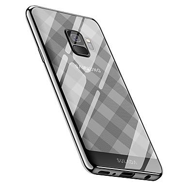 Недорогие Чехлы и кейсы для Galaxy S-Кейс для Назначение SSamsung Galaxy S9 / S9 Plus Покрытие Кейс на заднюю панель Плитка / Геометрический рисунок Мягкий ТПУ