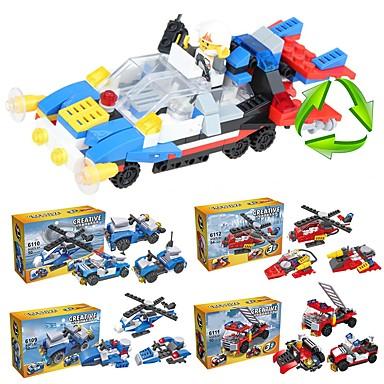 أحجار البناء مجموعة ألعاب البناء ألعاب تربوية 204 pcs سيارات متوافق Legoing مدرسة التوتر والقلق الإغاثة ضغط اللعب سيارة الإطفاء للصبيان للفتيات ألعاب هدية / التفاعل بين الوالدين والطفل