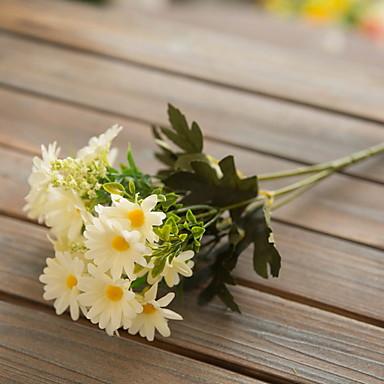 زهور اصطناعية 1 فرع كلاسيكي زهري أقحوان أزهار الطاولة