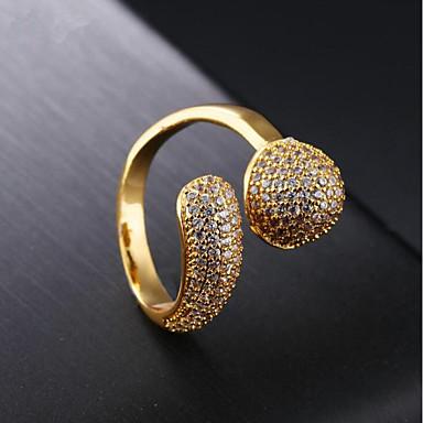 نسائي عصابة الفرقة مكعب زركونيا 1PC ذهبي 18K الذهب Geometric Shape سيدات موضة مناسب للحفلات مناسب للبس اليومي مجوهرات العنقودية نجمة كوول