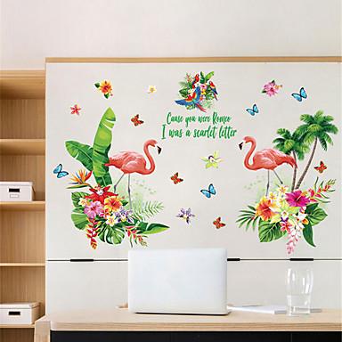 لواصق حائط مزخرفة - ملصقات الحائط الحيوان حيوانات / الأزهار / النباتية غرفة الجلوس / غرفة النوم / دورة المياه