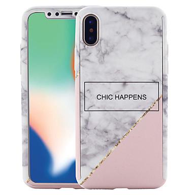 voordelige iPhone 6 Plus hoesjes-hoesje Voor Apple iPhone X / iPhone 8 Plus / iPhone 8 Patroon Volledig hoesje Marmer Hard PC